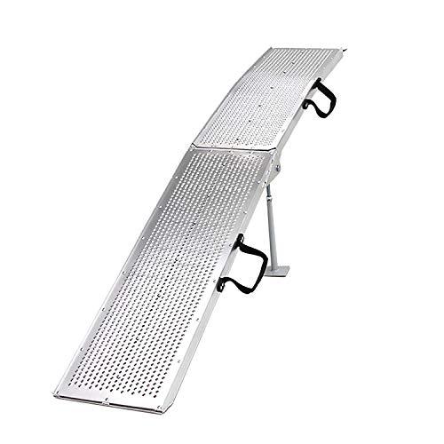 アルミラダーレール軽量アルミラダー 折りたたみ式 アルミスロープ コンパクト 脚付き スタンド付 滑り止め...