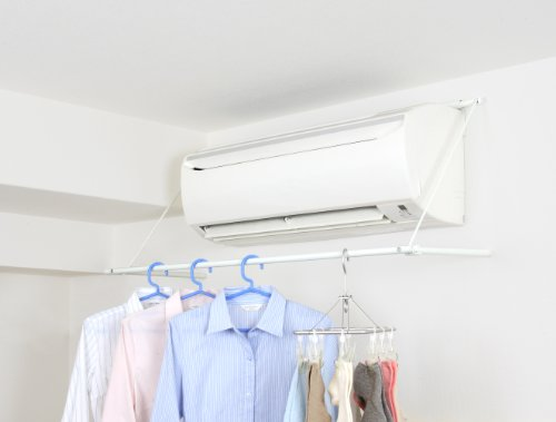 【ハンガー エアコン】【物干し】 エアコンの風を使って省エネ乾燥 簡単設置の エアコンハンガー