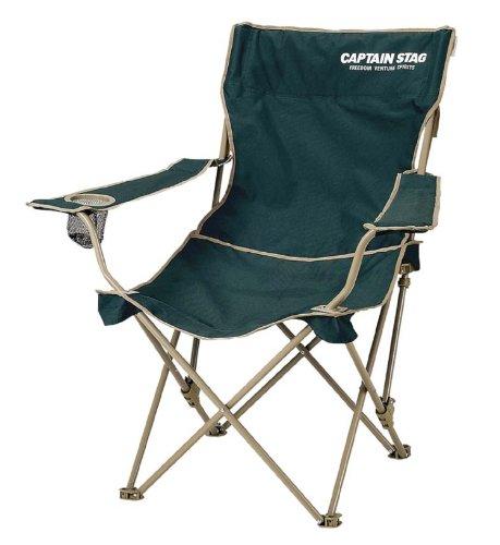 キャプテンスタッグ キャンプ用品 椅子 チェア CS リクライニングラウンジ グリーンM-3885