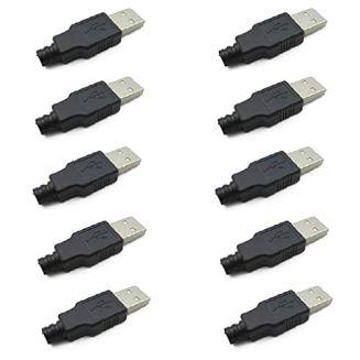 HiLetgo® 10個セット USBオスコネクタ USB プラグ USB オス コネクタ A タイプ シェル 4P [並行輸入品]