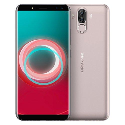 Ulefone Power 3s 4GB RAM+64GB ROM 4Gスマートフォン フェイス&指紋認識 6.0インチ Android 7.1 搭載 MTK6763 オクタコア 2.0GHz デュアルSIM + デュアルバックカメラ + デュアルフロントカメラ (ゴールド)
