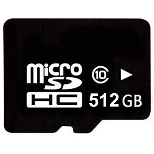 Vefasonic 512GBマイクロSDHC SD TFメモリーカード 高速クラス10 マイクロSDアダプターとカードリーダー付...