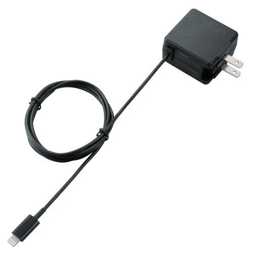 ロジテック iPhoneiPad対応 LightningAC充電器 Apple認証 Made for iPhone取得 2.4A出力 1.2m ブラック LPA-ACLA102BK