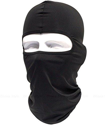 無地 目出し帽 アーミーバラクラバ タクティカル フェイスマスク ミリタリー フルフェイスマスク 防寒 UVカット ヘッドウェア ヘルメット インナー ~ 軍用・サバイバルゲーム・自転車・BMX・バイク・アウトドア ~ QNM Type (Black)