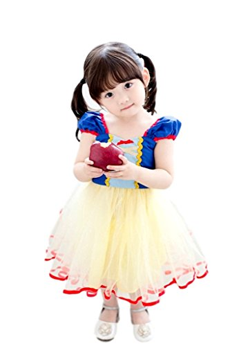 (eones) 白雪姫 子供用 コスチューム ハロウィン クリスマス パーティー コスプレ衣装 (100cm)