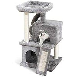 PAWZ Road キャットタワー 猫タワー 安定 クッション 取り外し 手入れ簡単 交換用フェルト付き 交換用ボール付き 据え置きタイプ グレー
