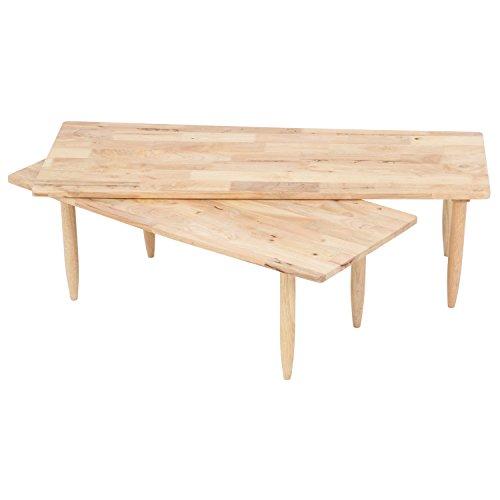 不二貿易 センターテーブル 木製 ツイン Natural Signature 122×43cm ナチュラル 37002