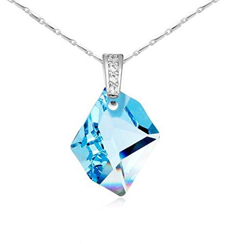 MFYS Jewelry 「預言の石」ブルートパーズ クリスタル ネックレス 専用ジュエリーBOX付