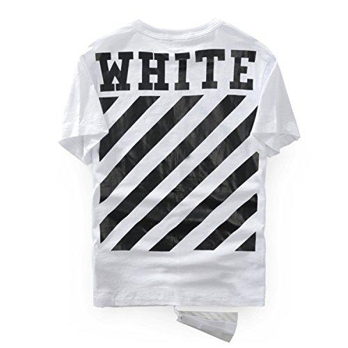OFFWHITE-オフホワイト Tシャツ 夏  男女兼用 (XL, ホワイト) [並行輸入品]