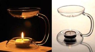 SSY 耐熱 ガラス アロマ ランプ キャンドルスタンド