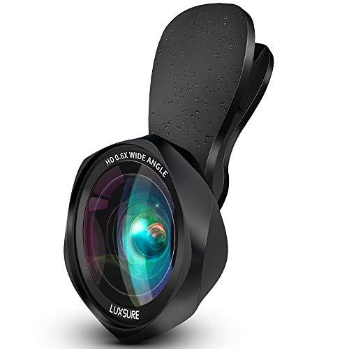 スマホ用カメラレンズ クリップ式レンズ 広角レンズ マクロレンズ 自撮りレンズ - Luxsure Apple Android 全機種対応 簡単装着 ローズ型2in1 二年保証