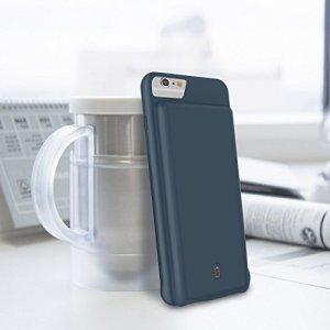 4000mAh バッテリー内蔵ケース iPhone 8/7/6s/6 大容量 超軽量 急速充電 160%バッテリー容量追加 新規イヤホン対応 グラスフィルム付 4.7インチ用