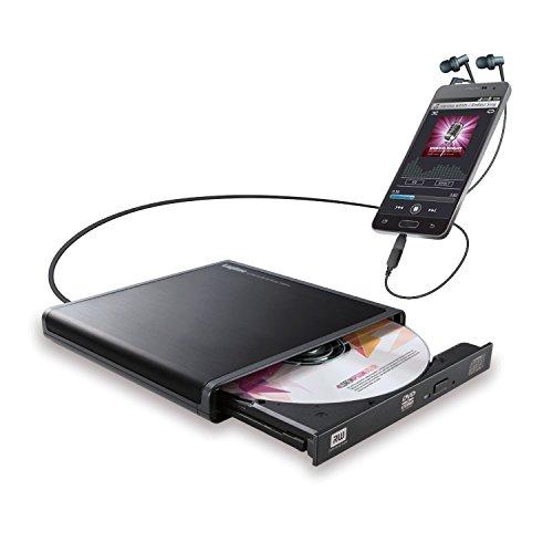 ロジテック CDドライブ スマホ タブレット向け 音楽CD取り込み USB2.0 Type-C変換アダプタ付 ブラック LDR-...