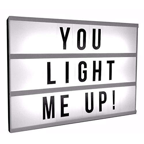 yuzuyu_shop ライトボックス A4サイズ(30cm×22cm×4cm) アルファベット 英語 インテリア LED 照明 ライ...