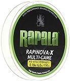 Rapala(ラパラ) PEライン ラピノヴァX マルチゲーム 150m 0.18号 6lb 4本編み ライムグリーン RLX150M018LG