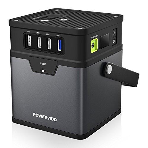 (アップグレード版)ポータブル電源 Poweradd ChargerCenter 180.9Wh / 50000mAh バックアップ用予備電源 キャンプ 車中泊 緊急・災害用 USB/AC/DC出力対応(5V/12V/19V/115V) 家庭用蓄電池 ACインバータ付き