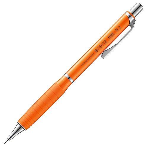 ぺんてる シャープペンシル オレンズ ラバーグリップ付き 0.2mm オレンジ XPP602G-F