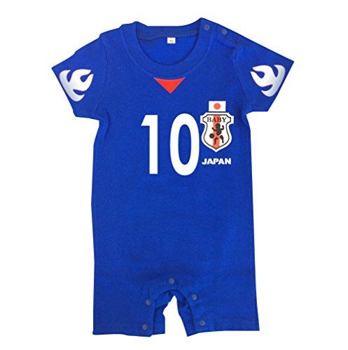 日本代表のロンパースに子供の名前を入れてプレゼント