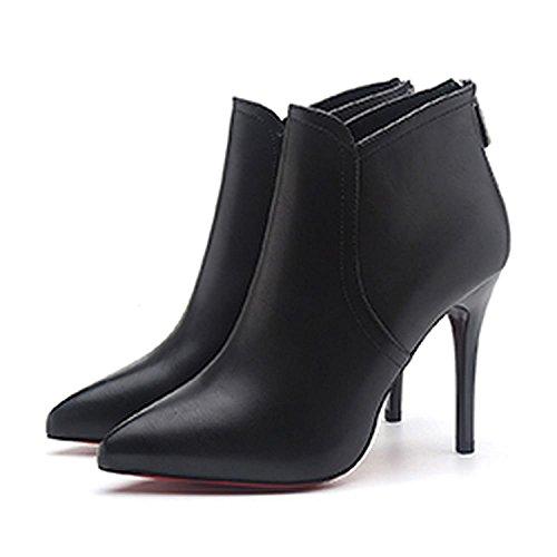 (ビューメンス) Beaumens ハイヒール ショート ブーツ レディース シューズ 靴 くつ 春 ブーティ ピンヒール 248 黒 39
