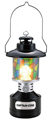 キャプテンスタッグ(CAPTAIN STAG) キャンプ ランタン ライト ツインライト LEDランタン ステンドグラス風...