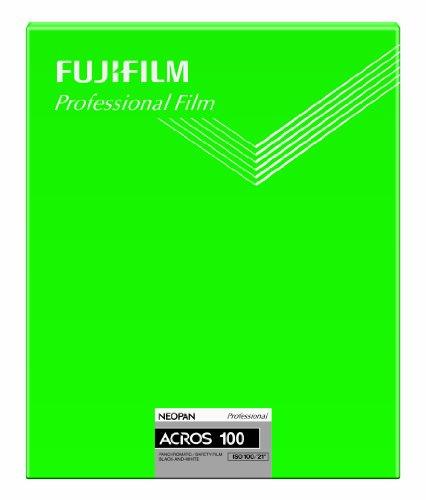 FUJIFILM 黒白ネガフイルム ネオパン 100 ACROS シート 20枚 CUT ACROS100 NP 8X10 20