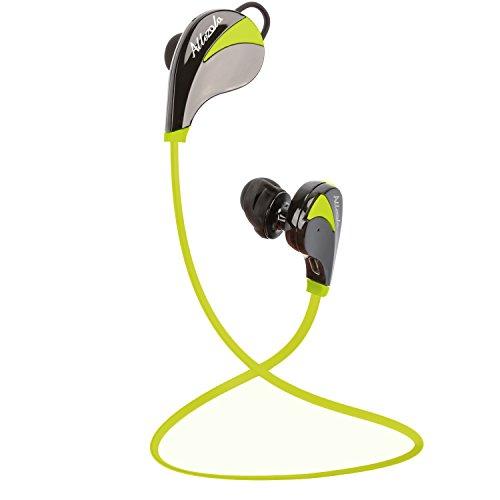[オールエイゾウラ]Allezola 正規品 メーカー1年保証 Bluetoothイヤホン ワイヤレススポーツイヤフォン CVC6.0ノイズキャンセニング搭載 Bluetooth 4.0 ステレオヘッドセット マイク内蔵 高音質 防汗 防滴 ランニング ジョギング用 ハンズフリー 通話可能 ブラック グリーン ブルー 3色 技適認証済