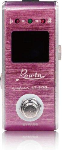 Rowin ローウィン チューナー LT-900 ピンク (国内正規品) 【1,699円~!】小さくて安いチューナー特集!エフェクターボードに邪魔にならないコンパクトなミニサイズのオススメペダル型チューナー!