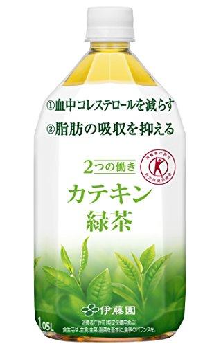 [トクホ] 伊藤園 2つの働き カテキン緑茶 1.05L×12本