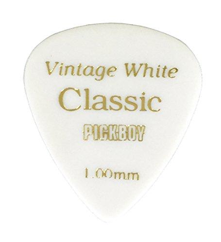 PICKBOY ビンテージ クラシックピック ホワイト USパッケージ(10枚入り) ティアドロップ GP-03/100 ウルテムピックはナイロンやセルロースの素材のように粘っこく弾くのも難しい ウルテムピックを使って練習するとギターが上手くなる!?