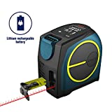 レーザー距離計 DTAPE DT10 最大測定距離40M USB充電式カラーLCDディスプレイ付き 巻尺レーザー距離計 内蔵 距離 空間任意二点測定 IP54防水規格 巻尺 5.0m 19mm幅 メートル目盛 コンパクト 12ヶ月保証