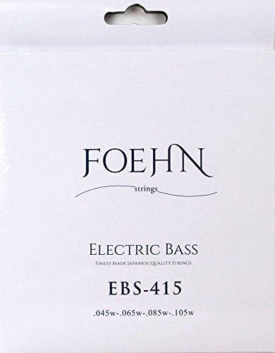 FOEHN EBS-415×2セット Electric Bass Strings Regular Light Top Medium Bottom エレキベース弦 45-105 【560円~】安いベース弦特集! 値段を気にせず常に新しい弦で練習できるおすすめ格安・激安ベース弦!レビュー・感想【4弦・5弦・6弦・コーティング弦】
