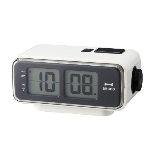 BRUNO  LCDレトロアラームクロック S ホワイト BCR003-WH
