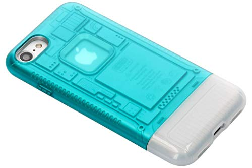 【Spigen】 「iMac G3 20周年限定版」 iPhone8 ケース iMac 完全再現 Classic C1 耐衝撃 米軍MIL規格取得 スケルトンデザイン 054CS24401 (ボンダイ・ブルー)