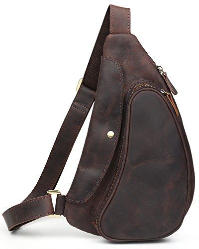 (チョウギュウ)潮牛 本革 メンズ ボディバッグ ワンショルダーバッグ 斜め掛けバッグ ヌメ革 オイルレザー 牛革 鞄