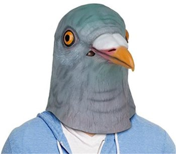 アニマルマスク ハト マスク 仮面 お面 ハロウィン 衣装 雑貨 コスプレグッズ 鳩のマスク 天然ゴムラテックス製