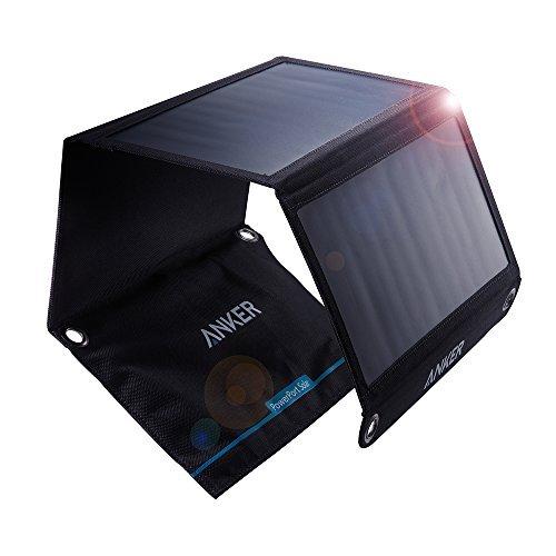 Anker PowerPort Solar (21W 2ポート USB ソーラーチャージャー) iPhone 6/6 Plus/iPad Air 2 / mini 3 / Xperia/Galaxy S6 / S6 Edge/Android各種他対応 【PowerIQ搭載】
