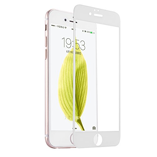 QQPOW iPhone 6s / iphone 6 Plus 全面保護 液晶保護フィルム ガラスフィルム 日本製素材 3Dタッチ対応 薄さ0.33mm 硬度9H iPhone 6 / 6s Plus ホワイト
