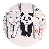 2018秋と冬の新しい猫のパンダ犬の動物シリーズ綿のカップルの暖かいスカーフ,青い法則,小型90×12cm