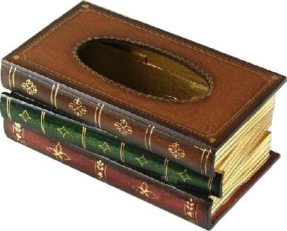 Tick Nick えっ! 本じゃなかったの?! レトロ アンティーク 本 みたいな ティッシュボックス ティッシュケース 木製
