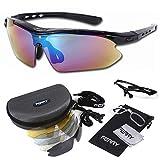 (フェリー) FERRY 偏光レンズ スポーツサングラス フルセット専用交換レンズ5枚 ユニセックス ブラック