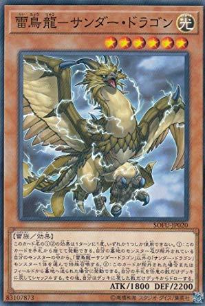 遊戯王 SOFU-JP020 雷鳥龍-サンダー・ドラゴン (日本語版 ノーマル) ソウル・フュージョン