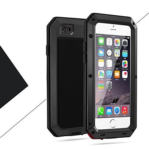 iPhone6/6s 4.7インチ用ケース 液晶保護強化ガラスフィルム付き 生活防水/防塵/耐衝撃 アウトドア スポーツ ケース アイフォン6/6s 対応, ブラック