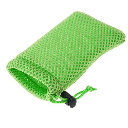 uxcell ホルスター・ポーチ 携帯電話バッグ MP3MP4のバッグ セルポーチ グリーン ナイロン メッシュ 7.5g 1個