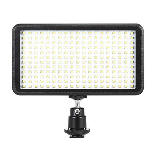 LEDビデオライト Andoer 228球のLEDを搭載 極薄型 Canon Nikon カメラ&ビデオカメラ用 3200K-6000K調節可能