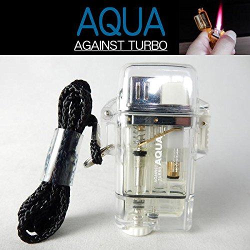 ツインライト AQUA TURBO LIGHTER ターボライター AGAINST TURBO 風・水に強い (クリア)
