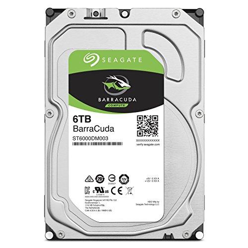 Seagate BarraCuda 6TB【 2年保証  】正規代理店 3.5インチ HDD 内蔵 ハードディスク SATA 6Gb/s 64GB 5400...