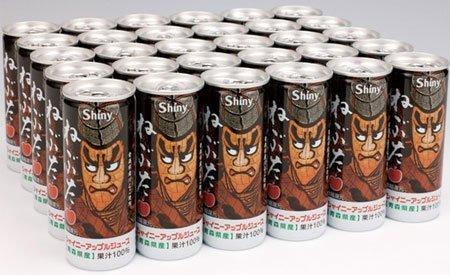 シャイニーアップルジュース ねぶた缶 250ml×30本