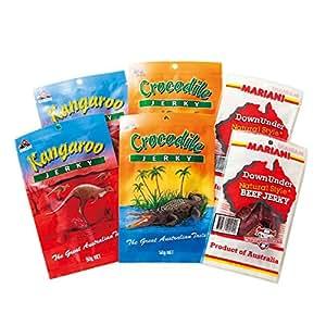 [オーストラリアお土産] オージージャーキー 3種6袋セット (海外 みやげ オーストラリア 土産)   おつまみ・珍味 通販