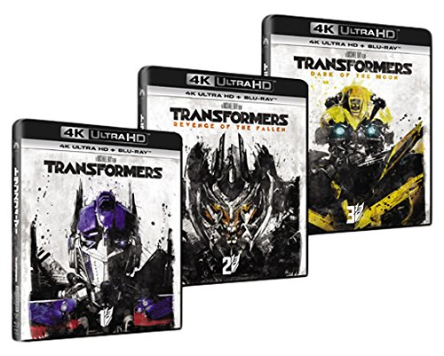 【Amazon.co.jp限定】トランスフォーマー+トランスフォーマー/リベンジ+トランスフォーマー/ダークサイド・ムーン 3巻セット (4K ULTRA HD + Blu-rayセット)(3巻セットオリジナル収納BOX付き)[4K ULTRA HD + Blu-ray]