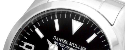 [ダニエル・ミューラー]DANIEL MULLER 腕時計 ステンレスケース・ベルト シンプル ウォッチ ブラック DM-2035BK メンズ